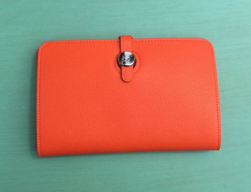 Faux Leather Dogon Style Wallet - Orange